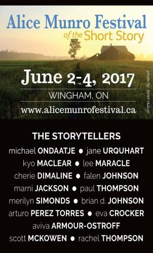 Alice Munro Festival of the Short Story  June 2-4, 2017