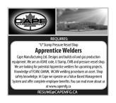 Apprentice Welders Wanted