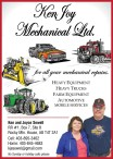Ken Joy Mechanical Ltd.  for all your mechanical repairs.
