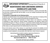 EMPLOYMENT OPPORTUNITY for MAINTENANCE AND CARETAKING SERVICES