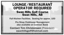 LOUNGE/RESTAURANT OPERATOR REQUIRED