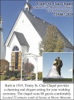 Trinity St. Clair Chapel provides a charming and elegant setting for your wedding ceremony
