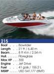 215 Bowrider Boat