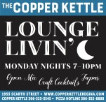 THE COPPER KETTLE  LOUNGE LIVIN'