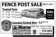 FENCE POST SALE May 15 - June 5
