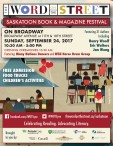 THE WORD ON THE STREET SASKATOON BOOK & MAGAZINE FESTIVAL