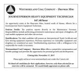 JOURNEYPERSON HEAVY EQUIPMENT TECHNICIAN Wanted