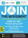 JOIN THE MOVEMENT ride and raise funds for mental health JUNE 25, 2017