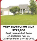 Quality custom built home on a beautiful river lot