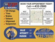 BOOK YOUR APPOINTMENT TODAY at VIP AUTOPRO