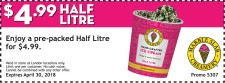 Enjoy a pre-packed Half Litre at Marble Slab