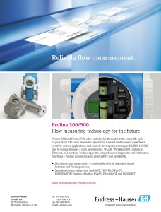 Proline 300/500 Flow Measuring Technology For The Future