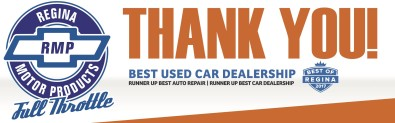 Regina Motor Products voted BEST USED CAR DEALERSHIP