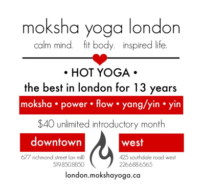 Unlimited introductory month with Moksha Yoga