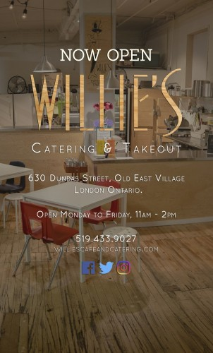 NOW OPEN  WILLIE'S CATERING & TAKEOUT