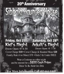 20th Anniversary Sibbald Haunted House