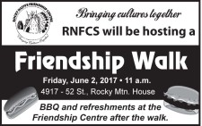RNFCS will be hosting a Friendship Walk Friday, June 2, 2017