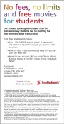 Scotiabank offers No fees, no limits and free movies for students