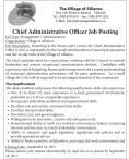 Chief Administrative Officer Job Posting