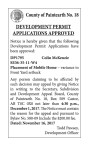 NOTICE OF DEVELOPMENT HEARINGS TUESDAY JULY 18, 2017