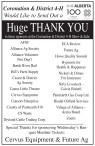 Huge THANK YOU to these sponsors at the Coronation & District 4-H Show & Sale