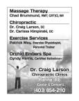 Massage Therapy  Chad Brummund, RMT, CAT(C), BA