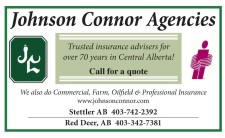 Trusted insurance advisers for over 70 years in Central Alberta!