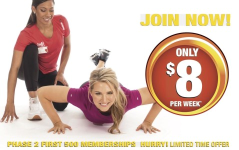 Only $8 Per Week At Goodlife Fitness
