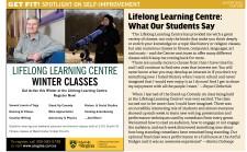 LIFELONG LEARNING CENTRE WINTER CLASSES