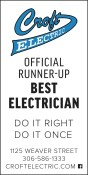 Croft ELECTRIC  OFFICIAL RUNNER-UP for BEST ELECTRICIAN