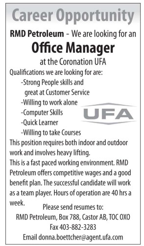 Office Manager at the Coronation UFA