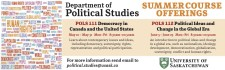 SUMMER COURSE OFFERINGS