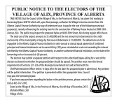 PUBLIC NOTICE TO THE ELECTORS OF THE VILLAGE OF ALIX, PROVINCE OF ALBERTA