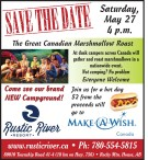 SAVE THE DATE Saturday, May 27 4p.m.  The Great Canadian Marshmallow Roast