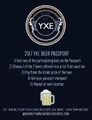 2017 YXE BEER PASSPORT REGULATIONS