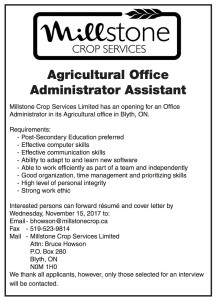 Agricultural Office Administrator Assistant Wanted