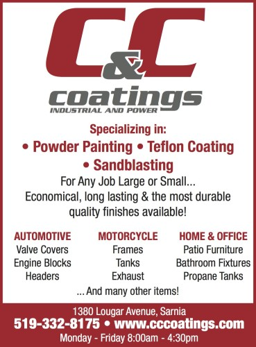 C & C Coatings Specializing in Powder Painting, Teflon Coating, Sandblasting