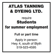 Students for summer employment wanted
