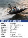 195 H.O. PLATINUM Boat