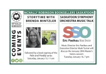 MCNALLY ROBINSON BOOKSELLERS  COMING EVENTS