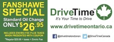Drive Time Oil Change Special