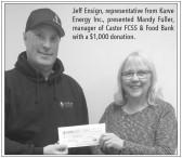 Karve Energy Donates to the Coronation Food Bank