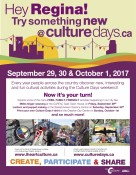 Cultural activities during the Culture Days weekend!