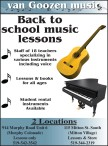 Back to school music lessons