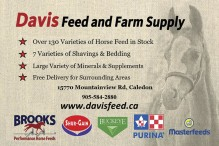 Davis Feed & Farm Supply:  Over 130 Varieties of Horse Feed in Stock