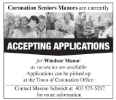 Coronation Seniors Manors are currently ACCEPTING APPLICATIONS for Windsor Manor