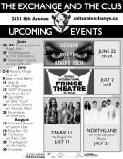 THE EXCHANGE AND THE CLUB UPCOMING EVENTS