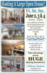 Hosting A Large Open House! Fri., Sat., Sun., June 2, 3 & 4