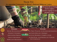 THANK YOU for supporting Communities in Bloom's Backyard Makeover Lottery