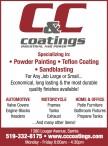 C & C Coatings Specializing in Powder Painting, Teflon Coating, Sandblasting